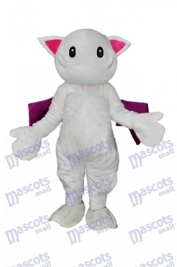 Scary Teeth White Monster Cat Mascot Costume