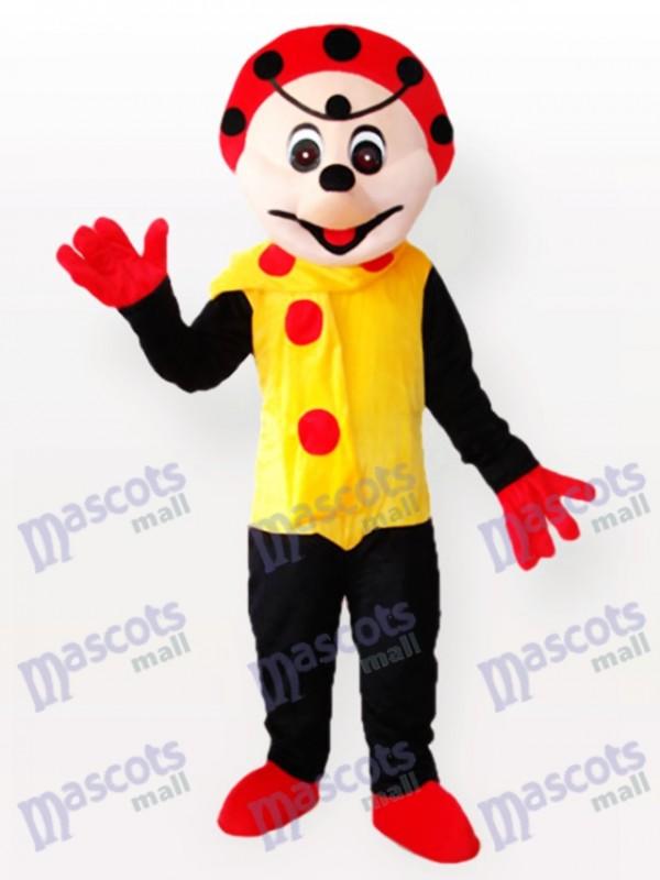Spotty Clown in Yellow Dress Mascot Costume