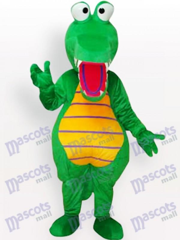Green Crocodile Animal Adult Mascot Costume