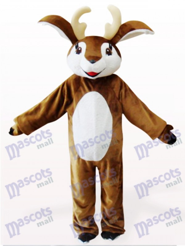Brown And White Deer Animal Mascot Costume