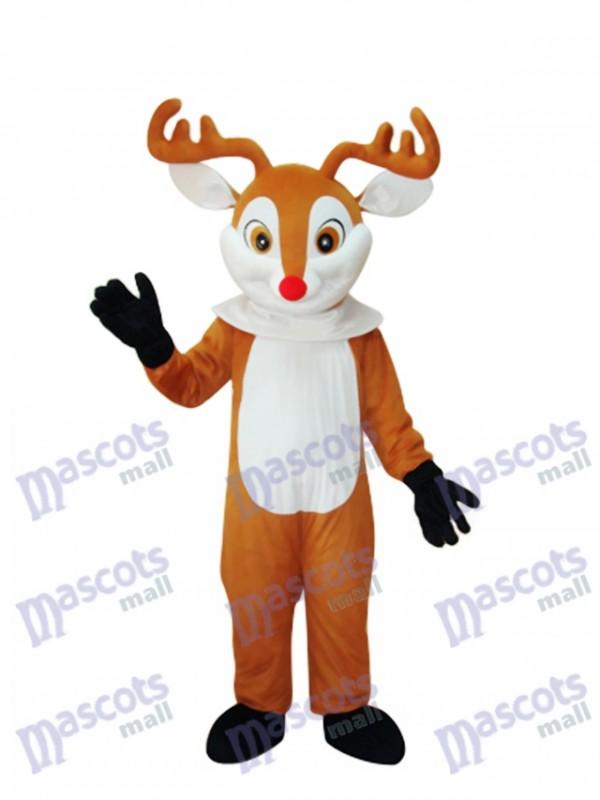 Golden Sika Deer Mascot Adult Costume