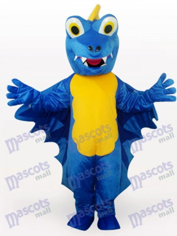Blue Dinosaur Adult Mascot Funny Costume