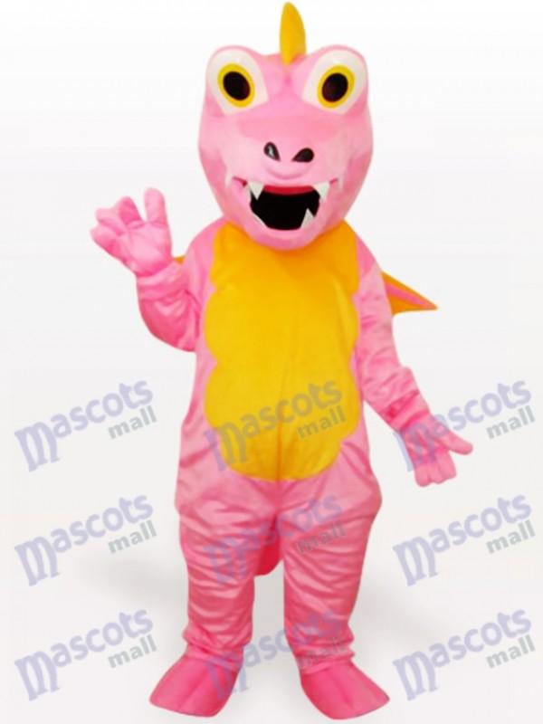 Pink Dinosaur Animal Adult Mascot Funny Costume