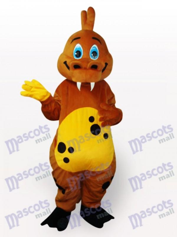 Gold Dinosaur Animal Adult Mascot Costume