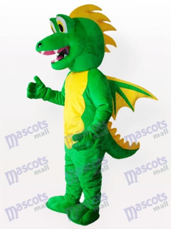 Green Stegosaurus Adult Mascot Costume
