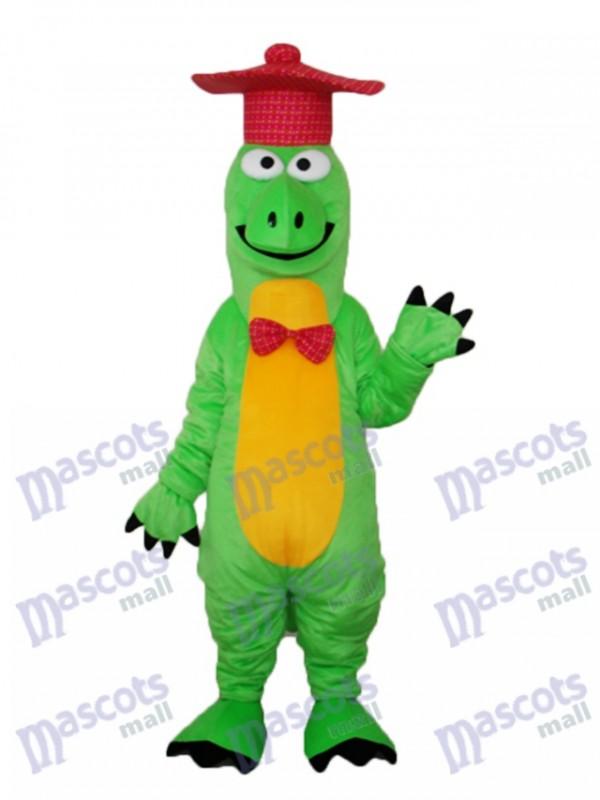 Gentleman Dinosaur Mascot Adult Costume