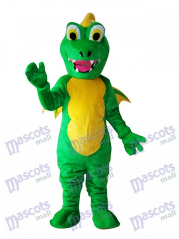 Big Mouth Thorn Green Dinosaur Mascot Adult Costume