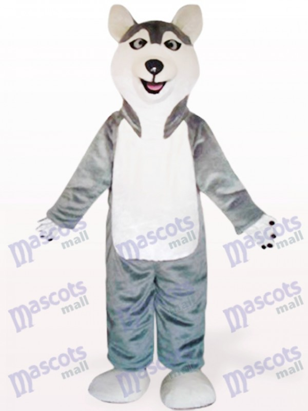 Gray Sled Wolf Dog Animal Mascot Costume