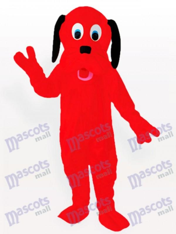 Fire Red Dog Adult Mascot Costume