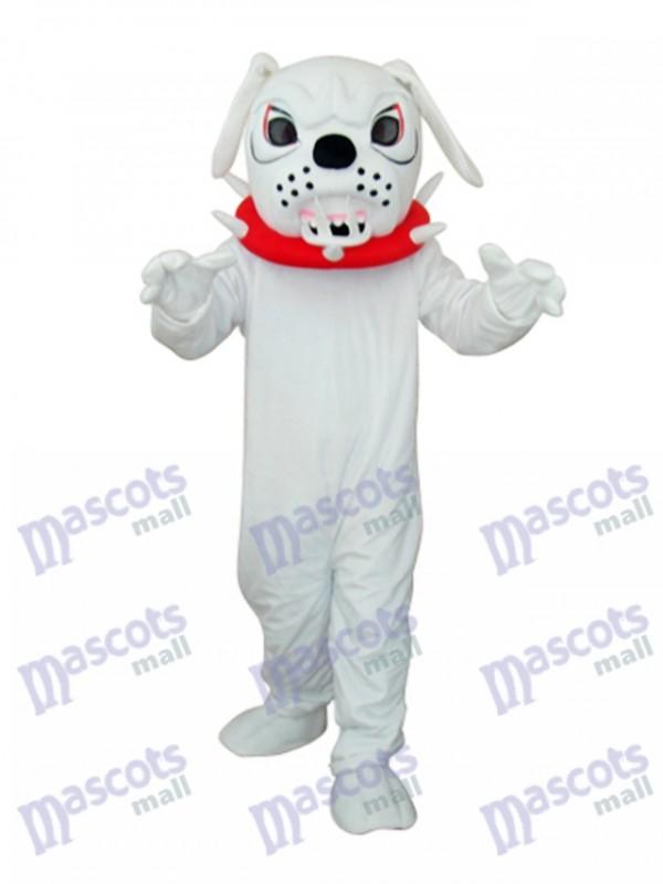 White Angry Dog Adult Mascot Costume