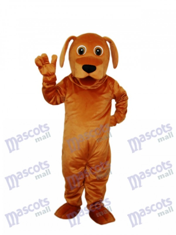 Golden Dog Mascot Adult Costume