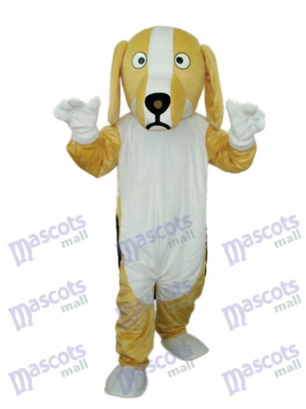 Khaki and White Dog Mascot Adult Costume