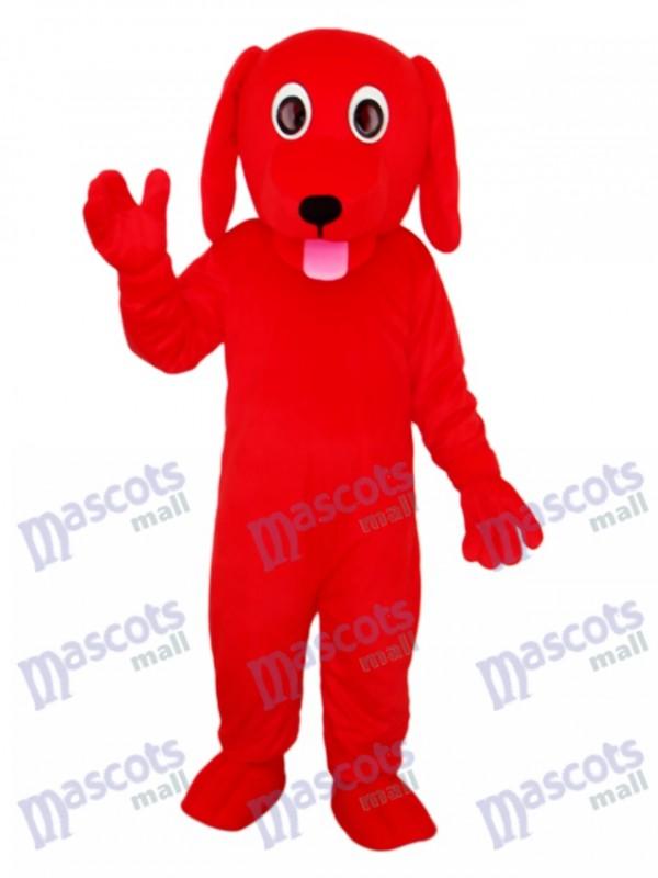 Little Red Dog Mascot Adult Costume