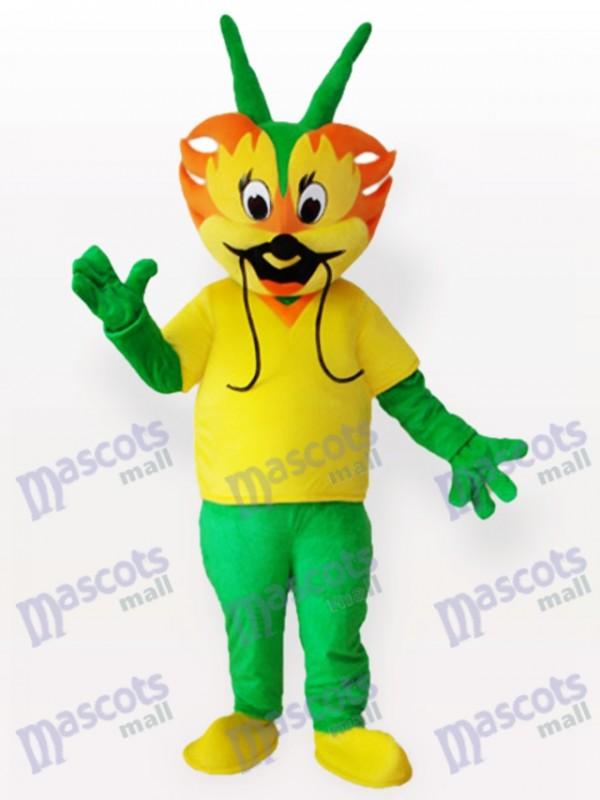 Cyan Dragon Adult Mascot Costume