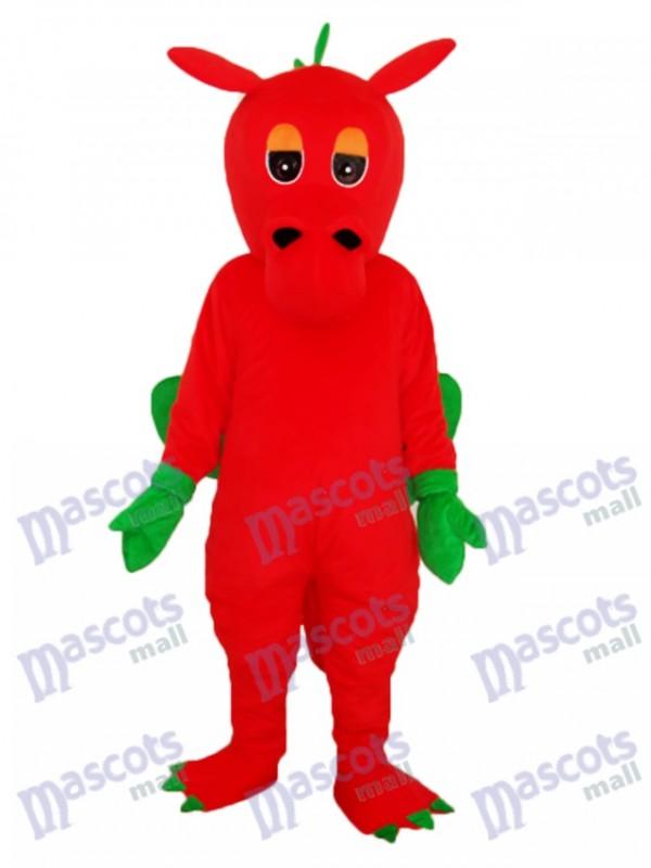 Red Dragon Mascot Adult Costume