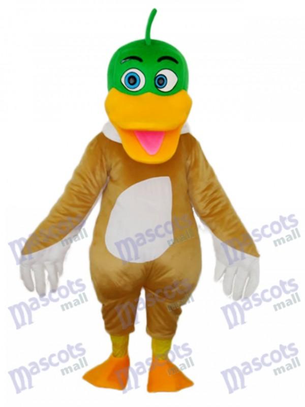 Green Duck Mascot Adult Costume