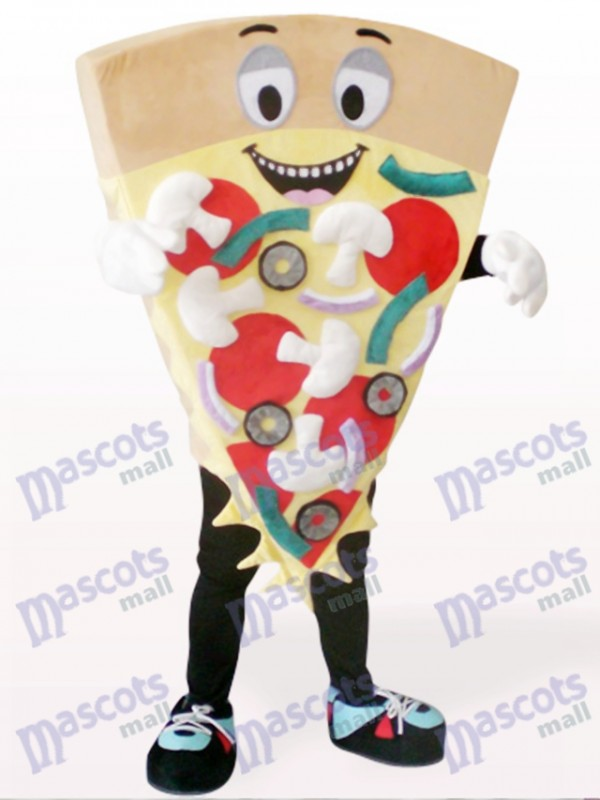 Brown Cheese Pizza Food Mascot Costume