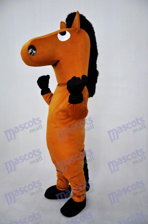 Brown Horse Plush Adult Mascot Costume