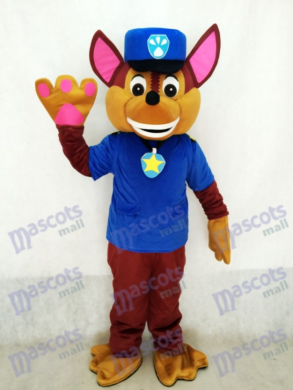 aw Patrol Chase Dog Adult Mascot Costume Fancy Suit Cosplay