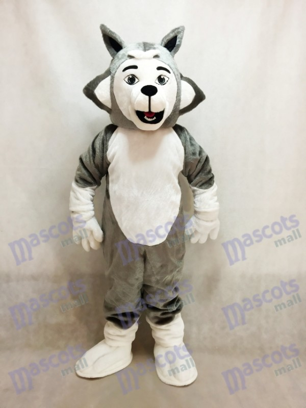 Grey Herman Husky Dog Mascot Costume