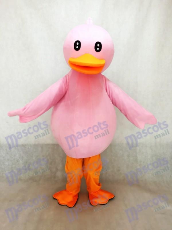 Pink Duck Mascot Costume Pinky Ducky Mascot Costume