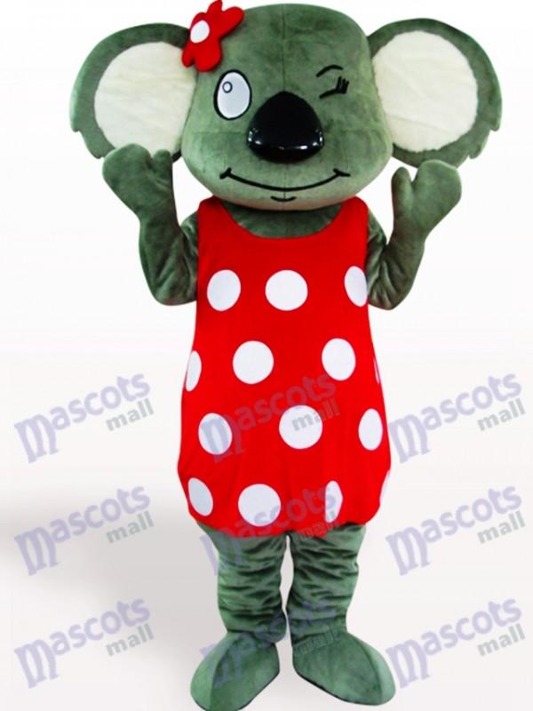 Red Skirt Koala Adult Mascot Costume