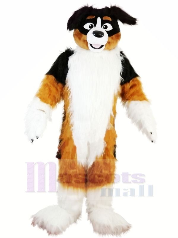 Hot Sale Furry Dog Husky Mascot Costumes Cartoon