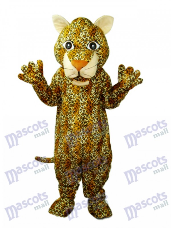 Young Leopard Mascot Adult Costume