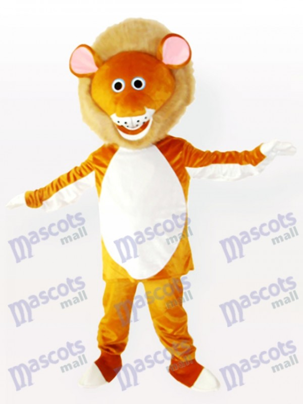 Yellow Male Lion Adult Mascot Costume