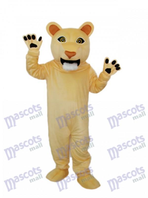 Beardless Cougar Mascot Adult Costume