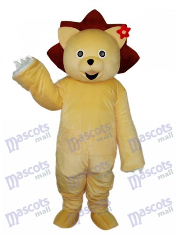 Golden Lion Mascot Adult Costume