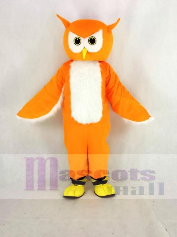 Orange Ollie Owl Mascot Costume School