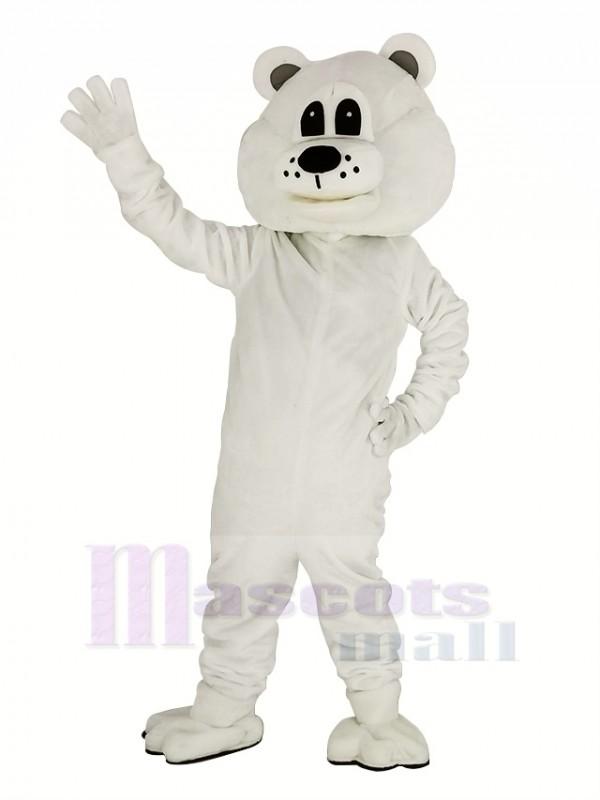 Cute White Bear Mascot Costume Adult
