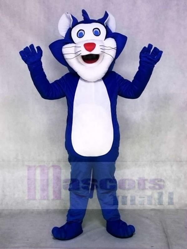Blue Fat Cat Mascot Costumes Animal