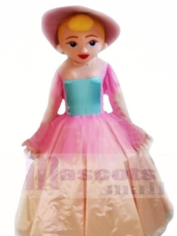 Princess in Pink Dress Mascot Costumes People