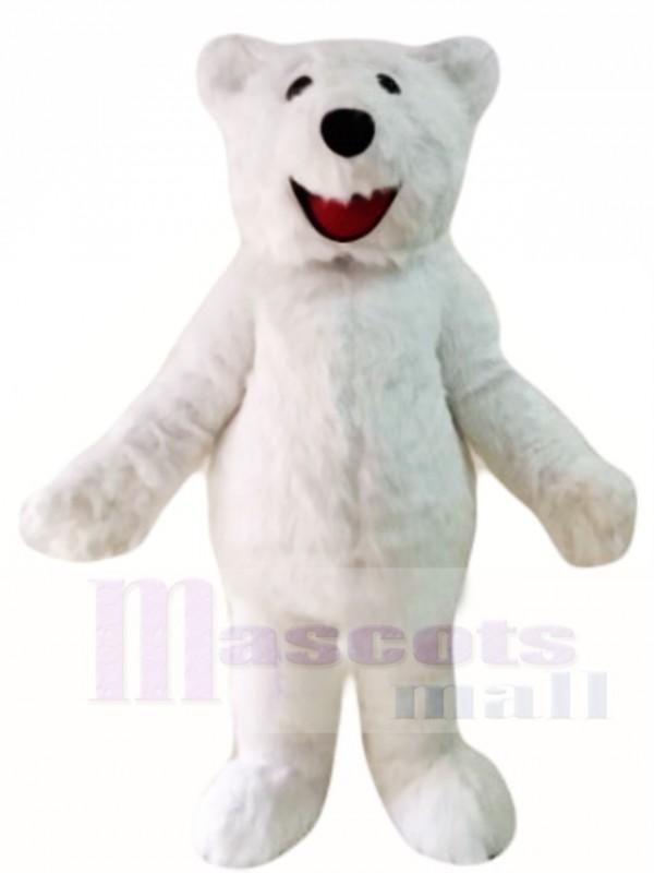 Hairy Polar Bear Mascot Costumes Animal