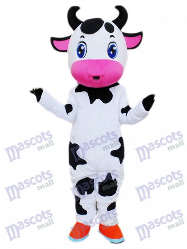 Cute Blue Eyes Cow Mascot Costume