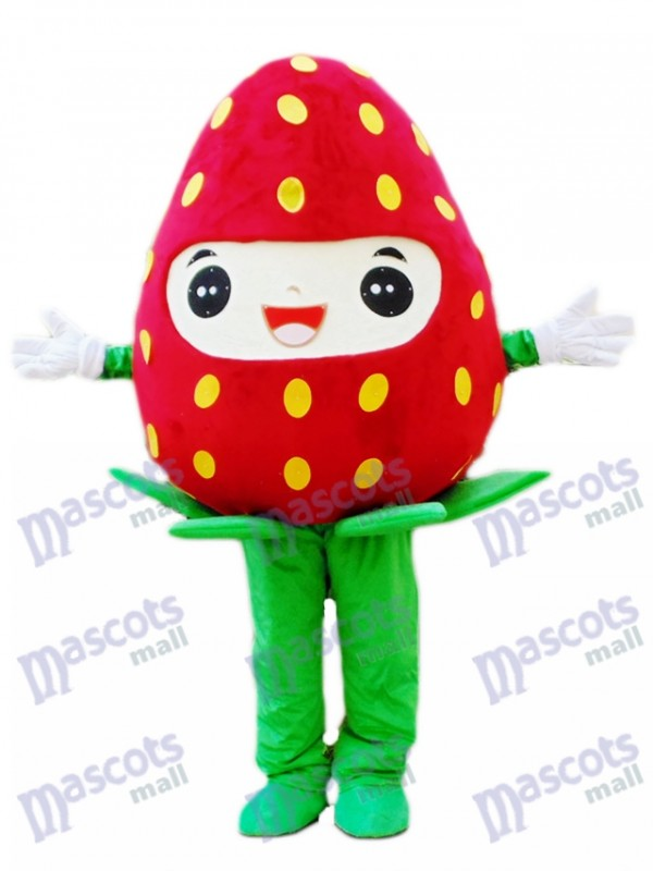 Fresh Strawberry Mascot Costume Fruit