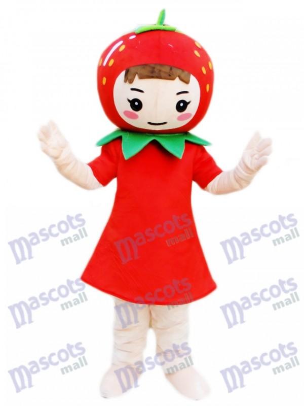 Strawberry Girl Mascot Costume Fruit