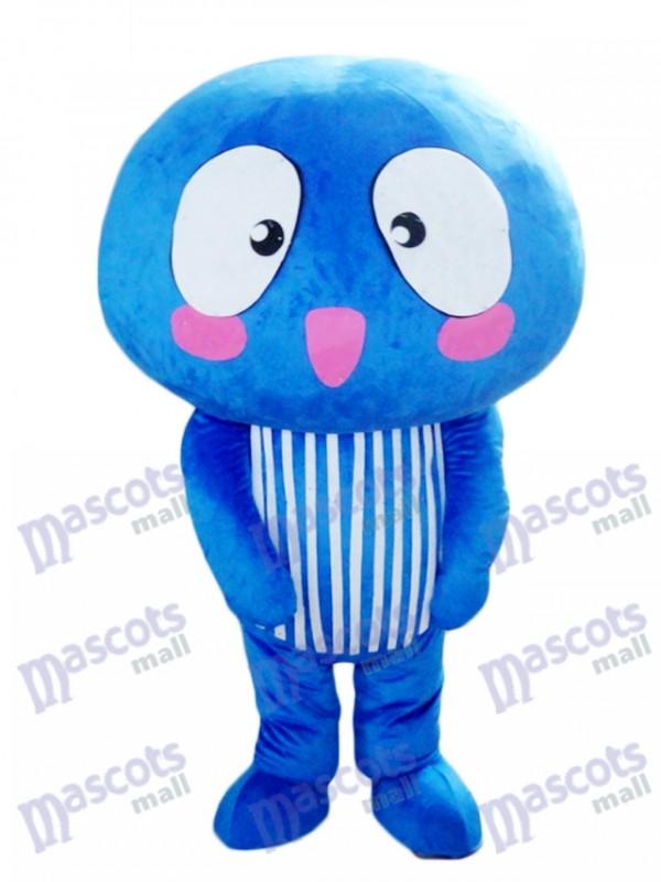Blue Mushroom Vegetable Mascot Costume Food Plant