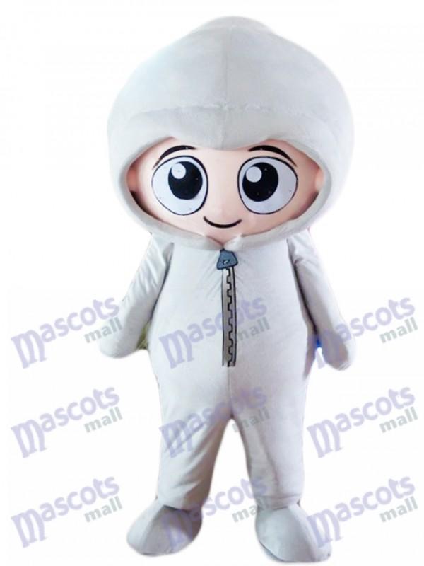 Gray Hoodie Boy Baby Mascot Costume People
