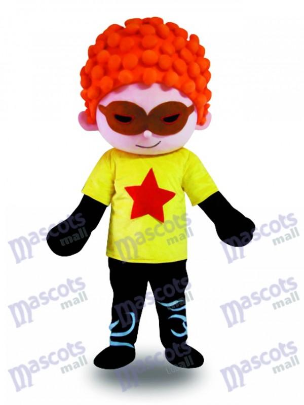 Red Hair Cool Boy Mascot Costume