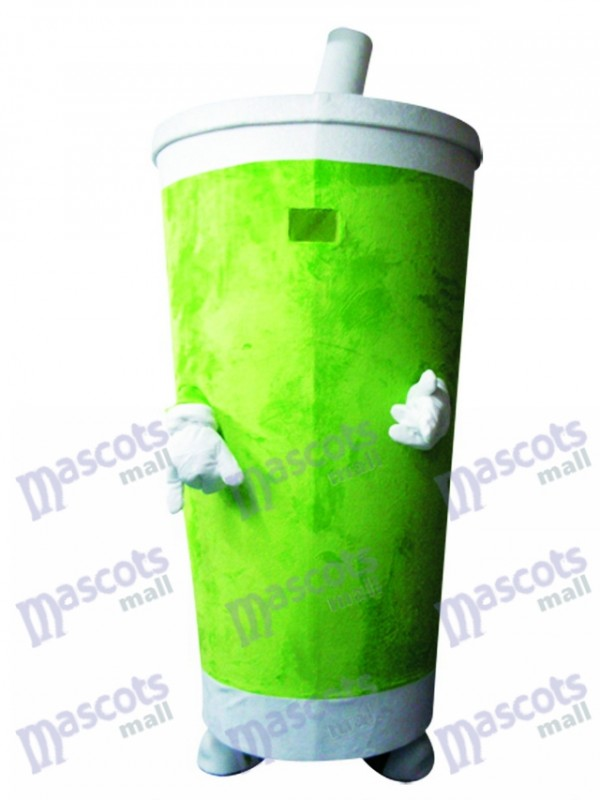Green Sippy Cup Drinks Tumbler Mascot Costume Food