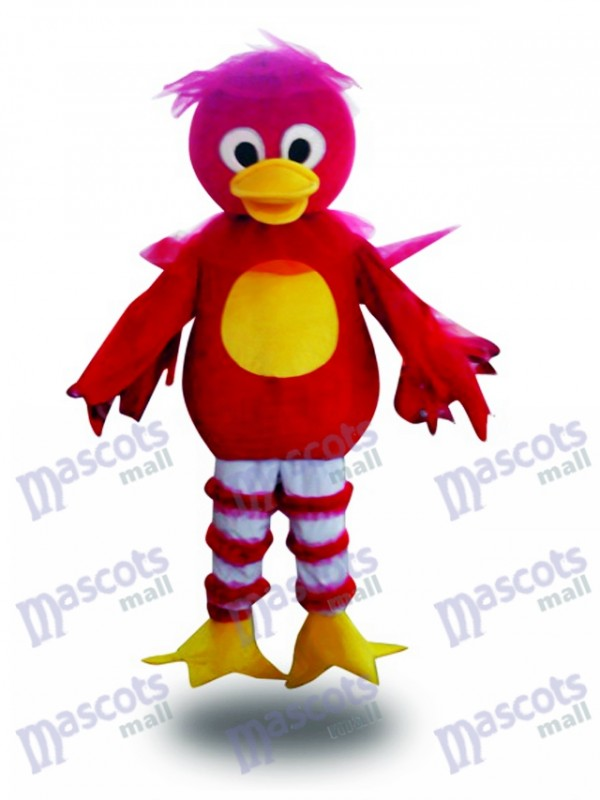 Red Duck Cartoon Mascot Adult Costume Animal