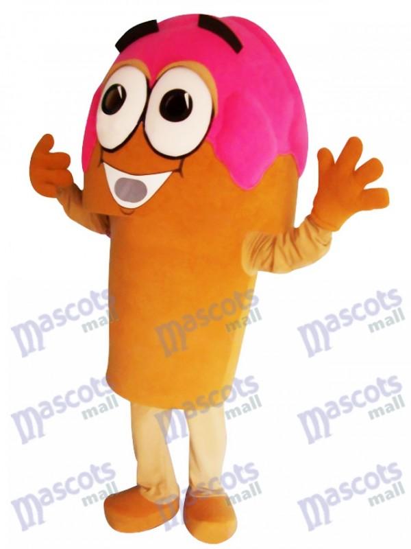 Yummy Pink Ice Cream Cone Mascot Costume