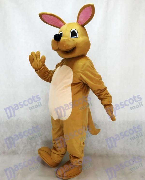 Cute Tan Kangaroo Mascot Costume