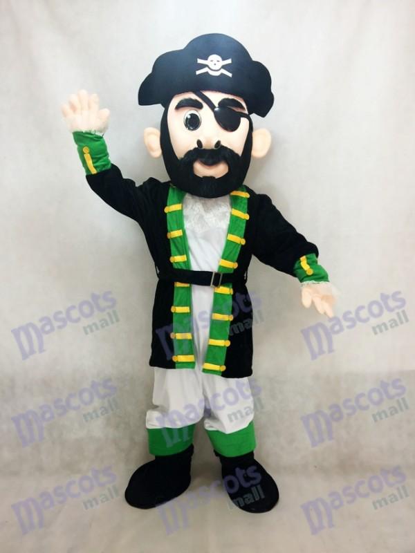 Green Cuff Captain Blythe Pirate Mascot Costume