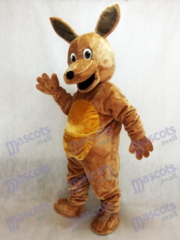 Long Hair Brown Kangaroo Mascot Costume Animal
