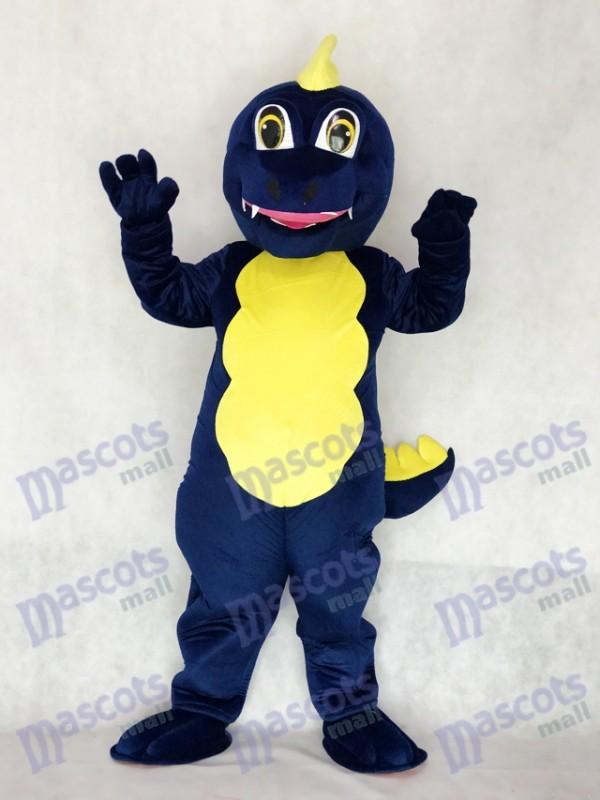 Adult Navy Blue Dragon Mascot Costume Animal