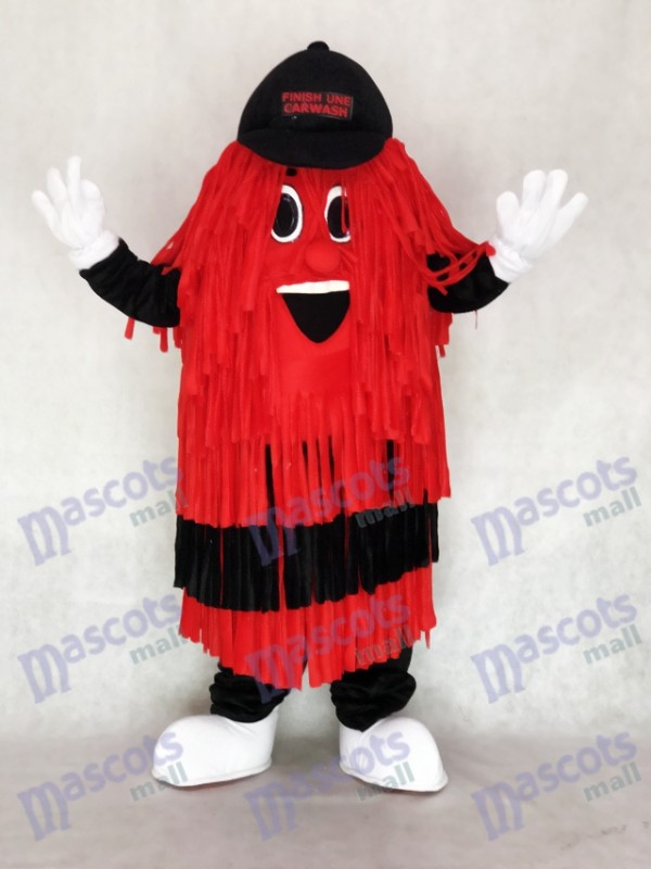 Black & Red Car Wash Finish Line Mascot Costume